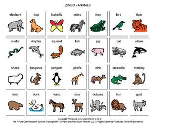 Animals Zingo! [speech therapy and autism]