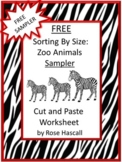 FREE Animals Zoo Sorting Cut and Paste Kindergarten Math Worksheets Morning Work