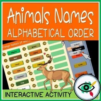 Animals words AB order