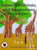 Animals Habitats Adaptations BUNDLE
