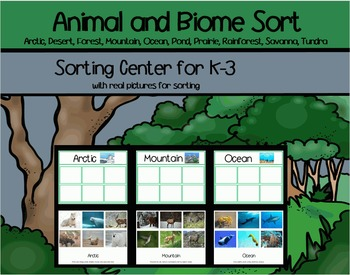 Animals and Biomes Sort
