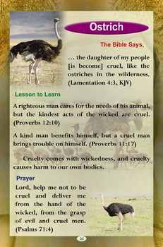 Animals and Birds of the Bible (A Popular Pictorial Book for Kids)