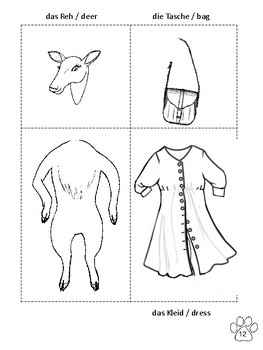 Animals and Clothes, in German and English