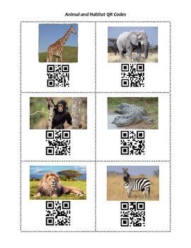 Animals and Habitat QR Codes