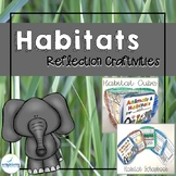 Animals and Habitat Reflection Craftivity
