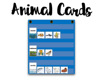 Animals and Habitats Cards