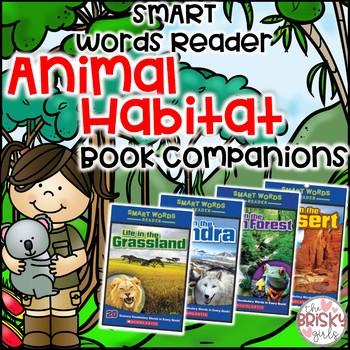 Animal Habitats Flipbook Mega BUNDLE for SMART Words Readers