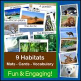 Animals and Habitats | Mats, Cards, Vocabulary