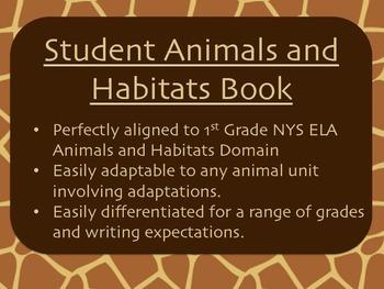 Animals and Habitats NYS ELA Domain and CCSS aligned