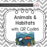 Animals and Habitats QR Code Cards