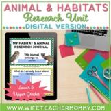 Animals and Habitats Research Unit Google Slides Digital D