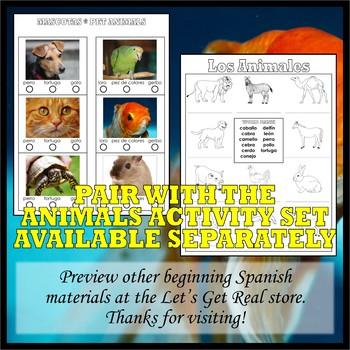 Animals and Habitats SPANISH POSTER SET