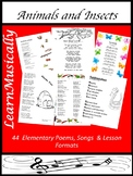 Animals and Insects - Poetry and Songs
