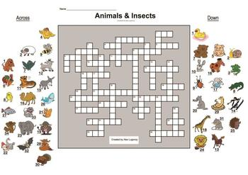 Animals and Insects crossword