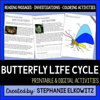 Butterfly Life Cycle Science, Literacy and Math Unit