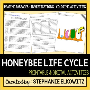 Honeybee Life Cycle Science, Literacy and Math Unit