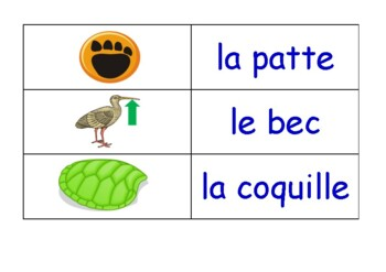 Animals and Nature in French Flash Cards