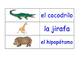Animals and Nature in Spanish Flash Cards