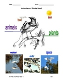 Animals and Plants Need - Illustrated Graphic Organizer