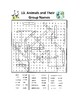 Animals and Their Group Names Word Search or Wordsearch Puzzle