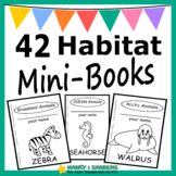 Animals and Their Habitats: 42 Mini-books