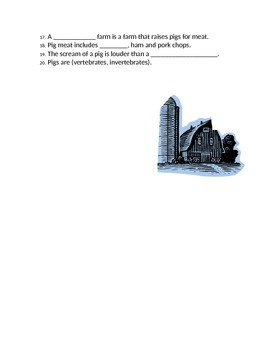 Animals and Their Habitats- 8 Lesson Science Unit- Workbook and Test