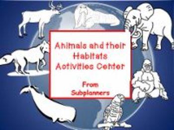 Animals and Their Habitats Activity Center