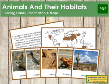 Animals and Their Habitats (Color Borders)