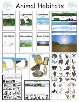 Animals And Their Habitats Cut And Paste Booklets