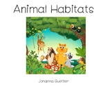 Animals and Their Habitats Sorting Mats and Picture Cards