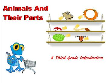 Animals and Their Parts - A Third Grade Smartboard Introduction