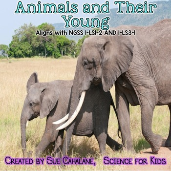 Animals and Their Young {Aligns with NGSS 1-LS1-2 and 1-LS3-1} {science}