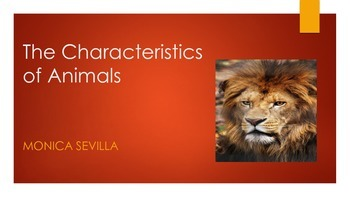 Animals and their Characteristics eBook