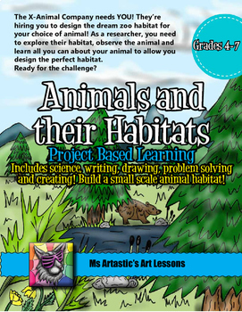Animals and their Habitats Bundles: Project Based Learning
