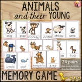Animals and their Young - Memory Game