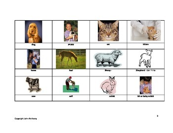 Animals and their young memory game