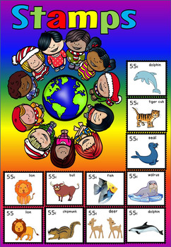 Animals around the world stamps(50 % off for 48 hours)