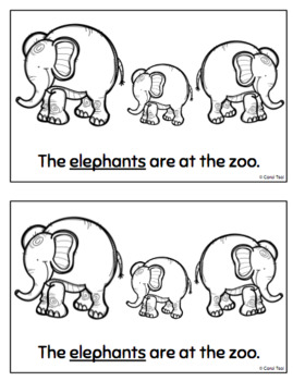 Sight Words Book: Animals at the Zoo