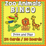 Zoo Animals Bingo - Zoo Animals Game