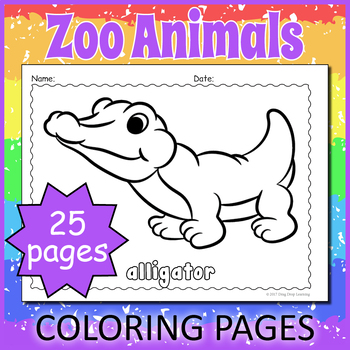 Zoo Coloring Sheet Worksheets Teaching Resources Tpt