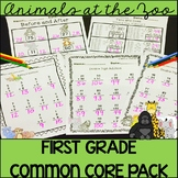 Animals at the Zoo: First Grade Common Core Math Pack