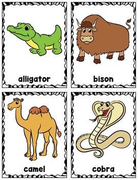 Animals at the Zoo Word Wall