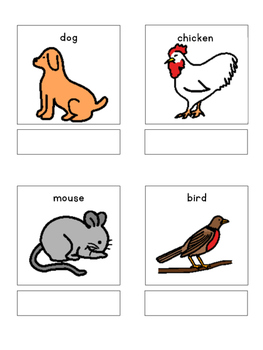 Animals - matching book, flash cards and more!