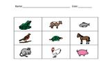 Animals - bingo/memory/go fish