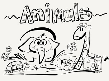 Animals coloring page
