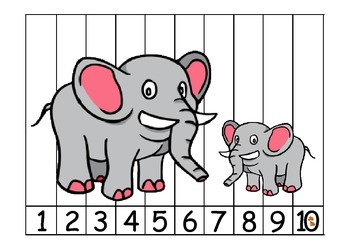 Animals counting puzzles