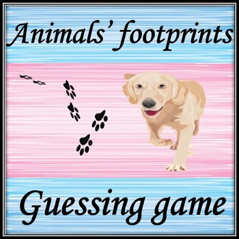Animals' footprints. Guessing game.