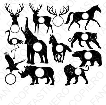 Animals for Monogram SVG files for Silhouette Cameo and Cricut.