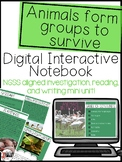 Animals form groups to survive -nonfiction text features and NGSS