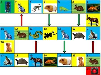 Animals Game board power point version